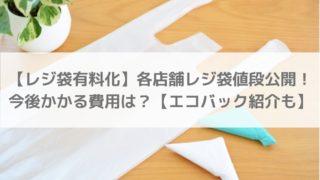 【レジ袋有料化】アパレルやスーパー等のレジ袋値段公開!今後かかる費用は?【エコバック紹介も】