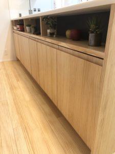 無垢 床 キッチン ウッドワン