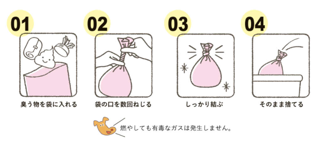 夏場でも生ごみの臭いを抑えられる袋【BOS】 使い方