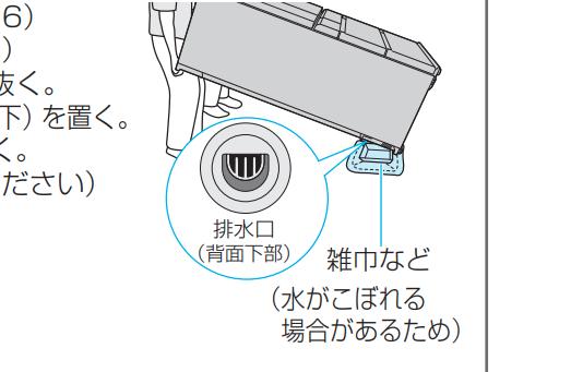 冷蔵庫の水抜き方法