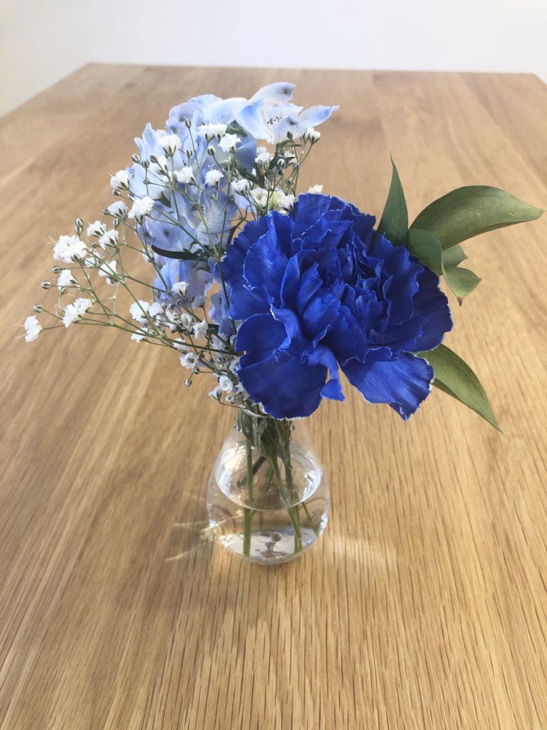 ブルーミーライフ1回目の花材