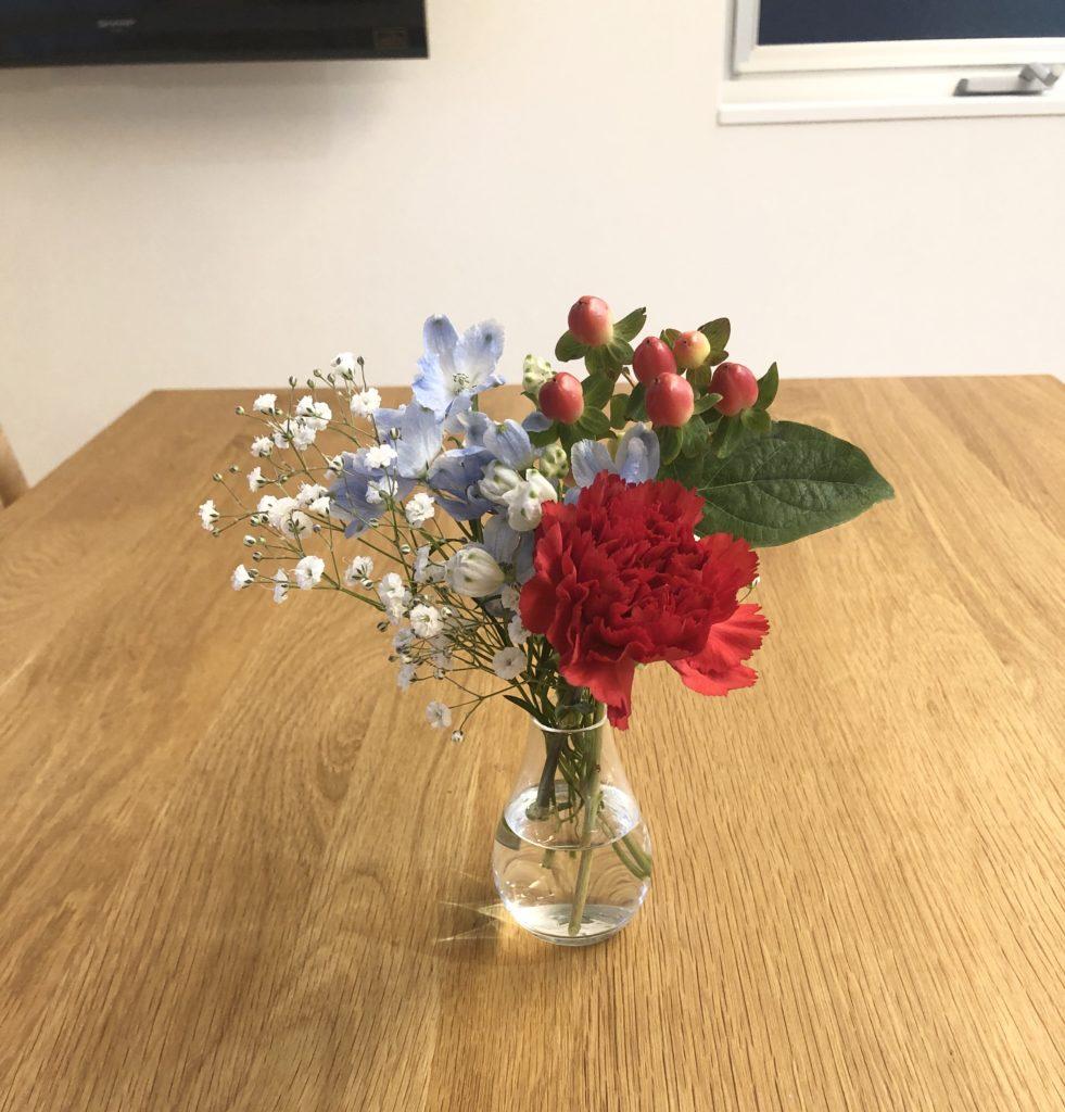 ブルーミーライフ2回目の花材